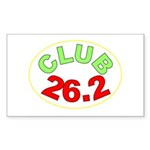 Club 26.2 Rectangle Sticker