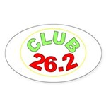 Club 26.2 Oval Sticker
