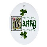 Barry surname Oval Ornaments
