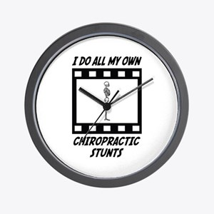 Chiropractic Stunts Wall Clock