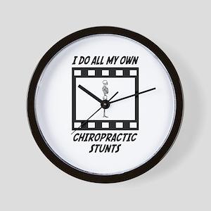 Chiropractic Stunts Wall Clock