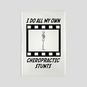 Chiropractic Stunts Rectangle Magnet