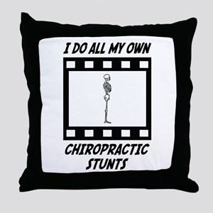 Chiropractic Stunts Throw Pillow