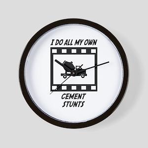 Cement Stunts Wall Clock