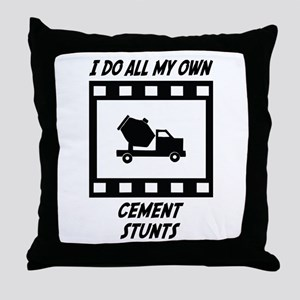 Cement Stunts Throw Pillow
