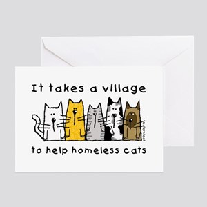 Feral Cats, Village Greeting Card