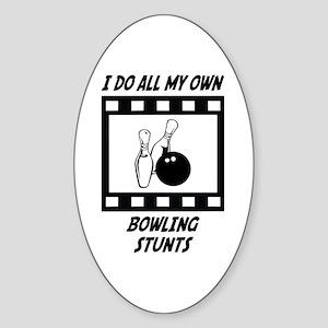 Bowling Stunts Oval Sticker