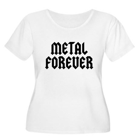 Metal Forever Women's Plus Size Scoop Neck T-Shirt