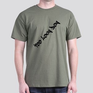 Too Long Dog Graffiti Dark T-Shirt