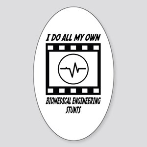 Biomedical Engineering Stunts Oval Sticker