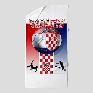 Croatian Football Beach Towel