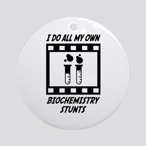 Biochemistry Stunts Ornament (Round)
