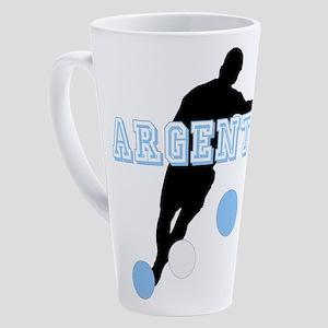 Argentina Soccer Player 17 oz Latte Mug