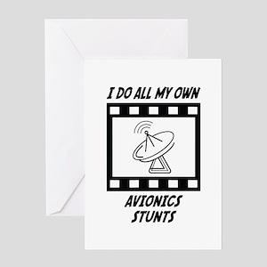 Avionics Stunts Greeting Card