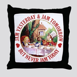 MAD HATTER'S DIET RULE Throw Pillow