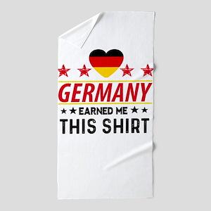 Germany earned gift tees Beach Towel