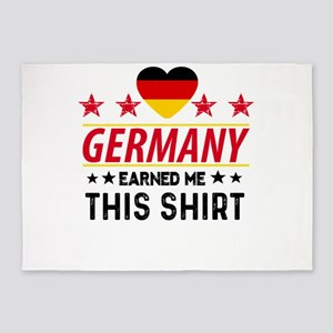 Germany earned gift tees 5'x7'Area Rug