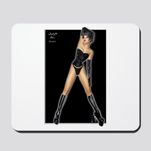 Black Latex Corset Pinup Mousepad