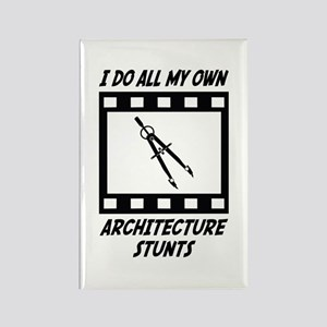 Architecture Stunts Rectangle Magnet