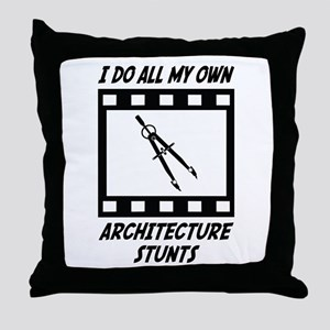 Architecture Stunts Throw Pillow