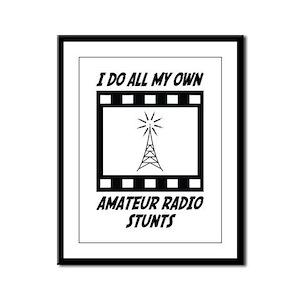 Amateur Radio Stunts Framed Panel Print