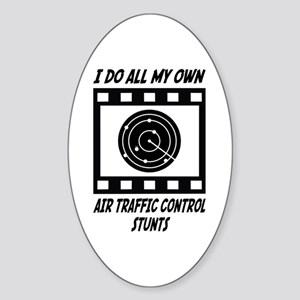 Air Traffic Control Stunts Oval Sticker