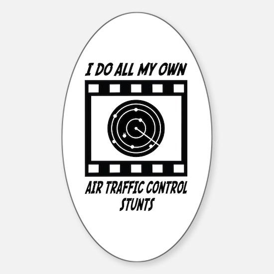 Air Traffic Control Stunts Oval Decal