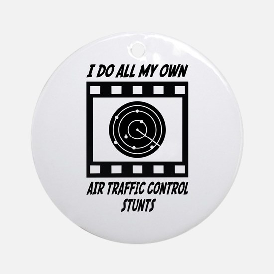 Air Traffic Control Stunts Ornament (Round)