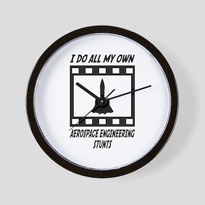 Aerospace Engineering Stunts Wall Clock