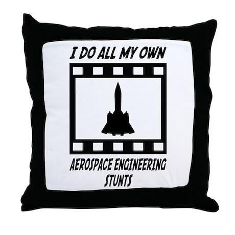 Aerospace Engineering Stunts Throw Pillow