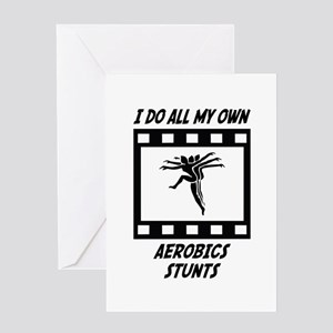 Aerobics Stunts Greeting Card