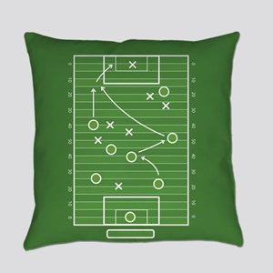 Football field Everyday Pillow