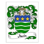 Marin Family Crest Small Poster