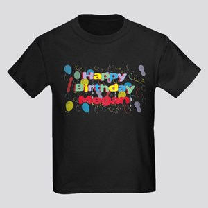 Happy Birthday Megan Kids Dark T-Shirt