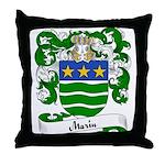 Marin Family Crest Throw Pillow