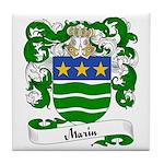 Marin Family Crest Tile Coaster