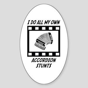 Accordion Stunts Oval Sticker
