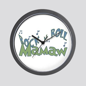 Flower Child Mamaw Wall Clock