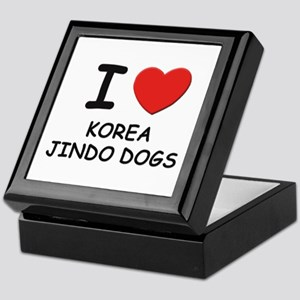I love KOREA JINDO DOGS Keepsake Box