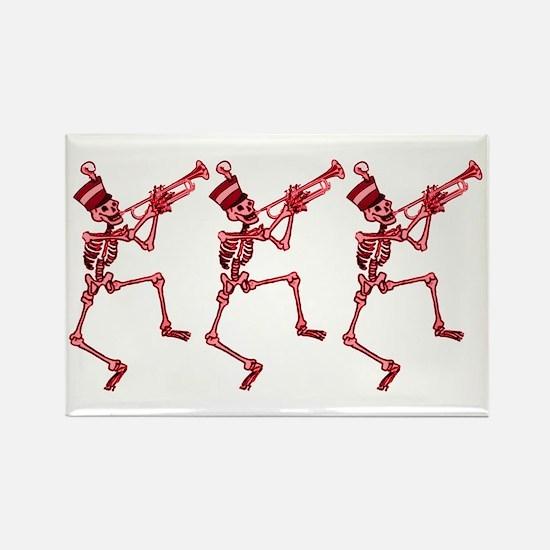 Trumpet Playing Skeleton Magnet