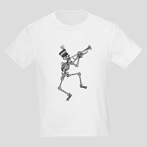 Skeleton Trumpet Kids Light T-Shirt