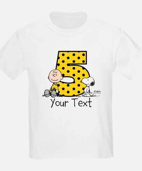 Charlie Brown Snoopy 5-Year-Old T-Shirt