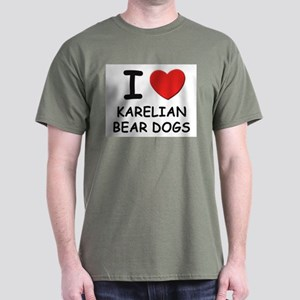 I love KARELIAN BEAR DOGS Dark T-Shirt