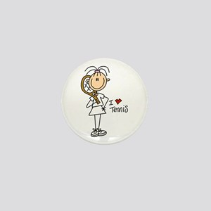 Girl I Love Tennis Mini Button