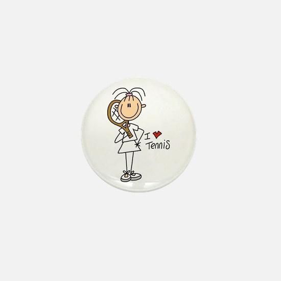 Girl I Love Tennis Mini Button