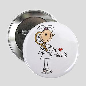 "Girl I Love Tennis 2.25"" Button"