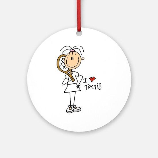 Girl I Love Tennis Ornament (Round)