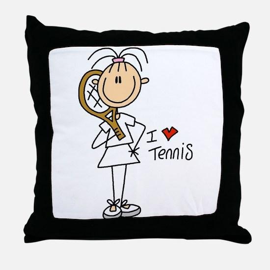 Girl I Love Tennis Throw Pillow