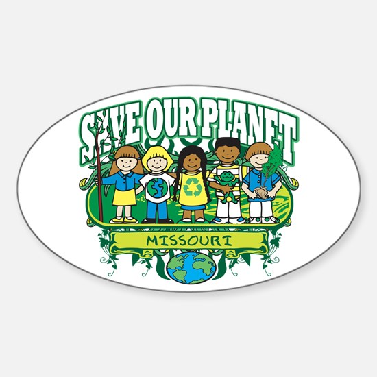 Earth Kids Missouri Oval Decal