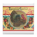 Turkey Sampler Tile Coaster